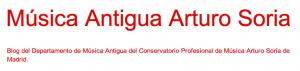 Musica Antigua Arturo Soria