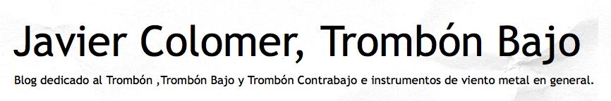 Javier Colomer Trombon Bajo